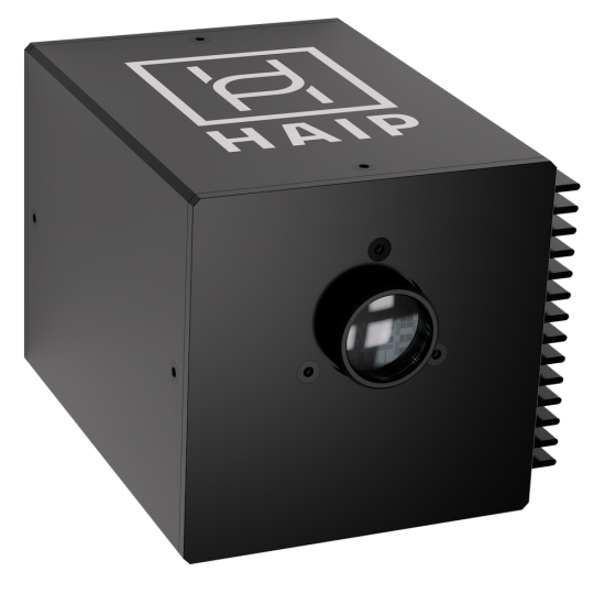 Hyperspectral camera from HAIP. The camera ist compact and has a high resolution and a good signal-to-noise ratio